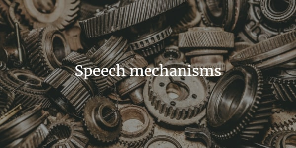 Speech-mechanisms